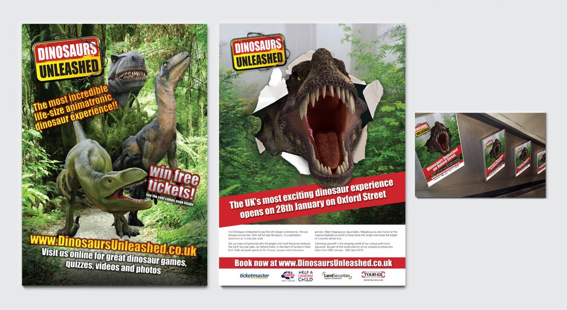 Advertising for Dinosaurs Unleashed Event