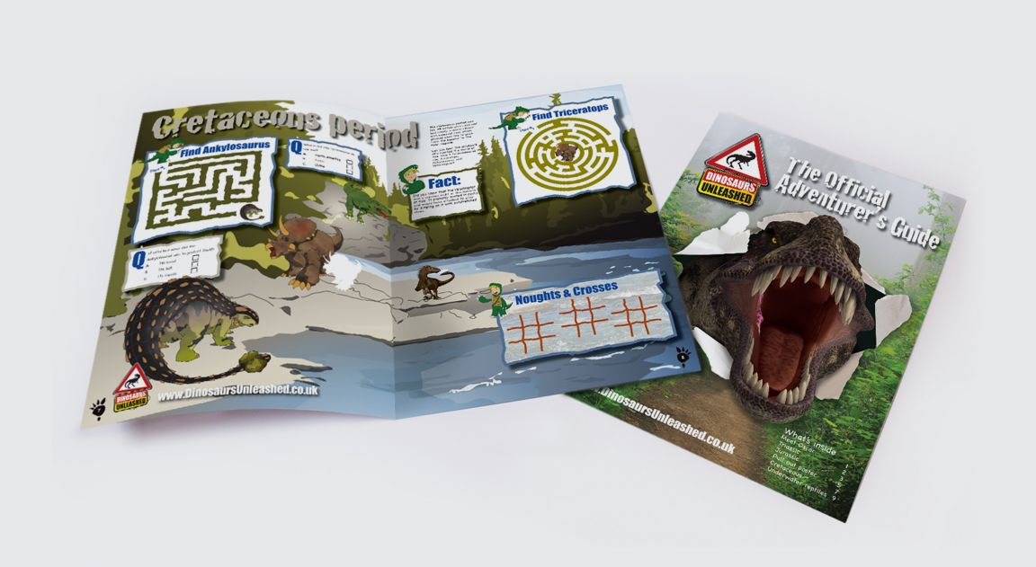 Brochure for Dinosaurs Unleashed Event