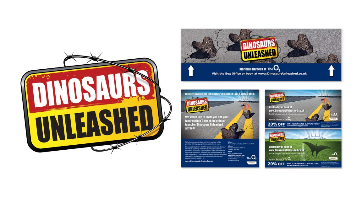 Web Banners for Dinosaurs Unleashed Event