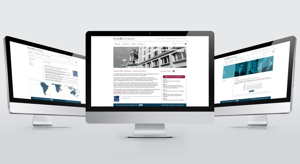 Beale and Co Website Design and Build