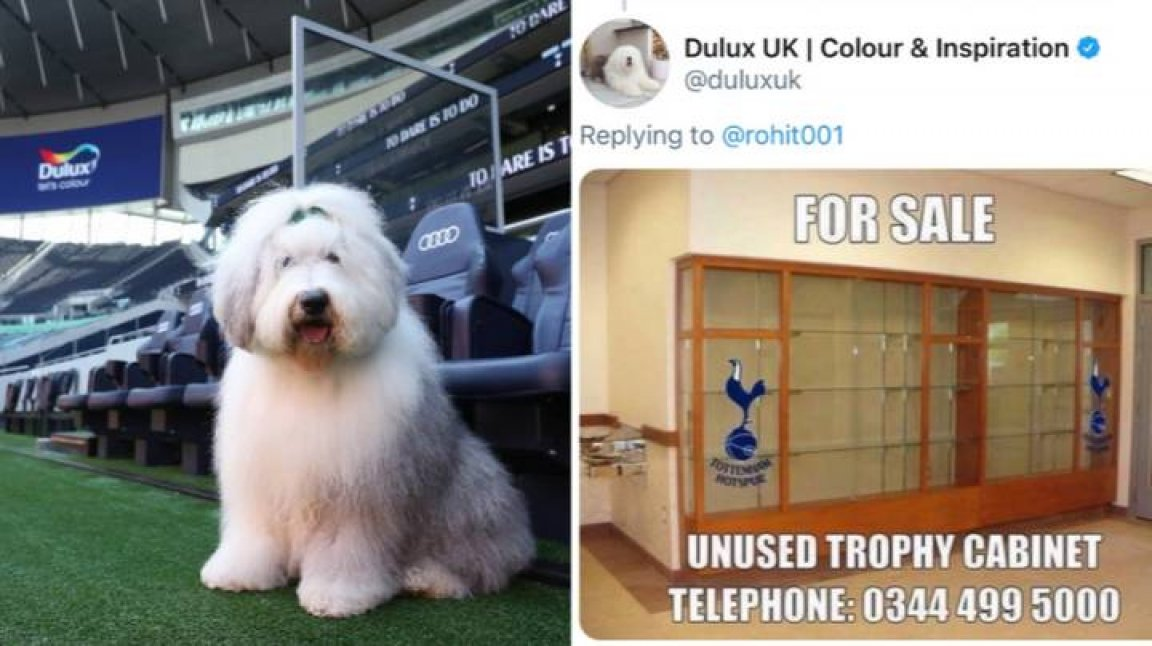Is there a Gooner in the Dulux social team?