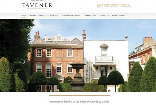Tavener Website Design and Build